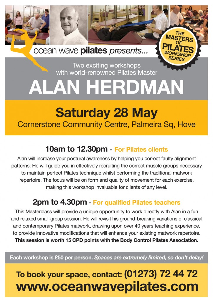 The Godfather of Pilates Alan Herdman at Ocean Wave Pilates in Brighton and Hove